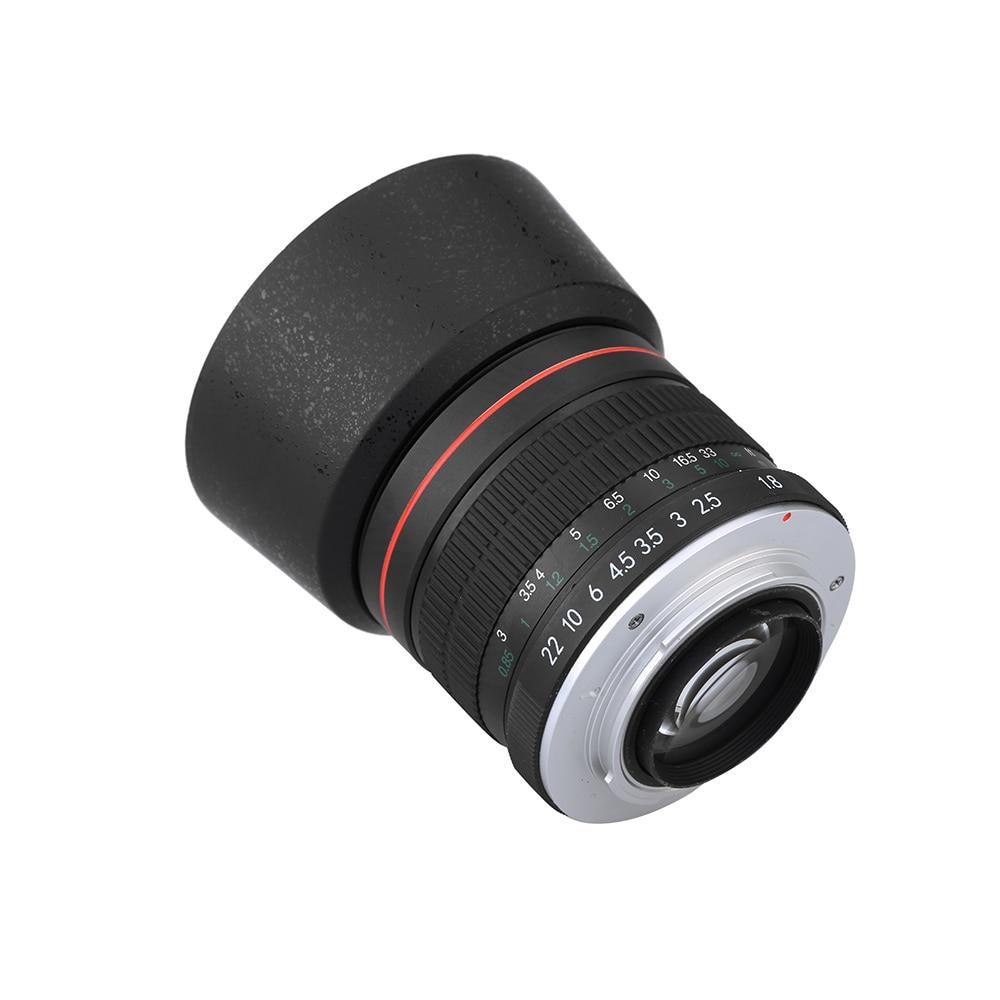 Objectif d'appareil-photo d'objectif de Portrait de mise au point manuelle de 85mm F1.8-F22 pour les appareils photo reflex numériques Canon EOS 550D 600D 700D 5D 6D 7D 60D