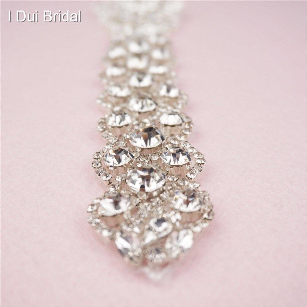 Bridal Sash Rhinestone Applique Crystal Pearl Rhinestone Belt Trim - Үйлену керек-жарақтары - фото 2
