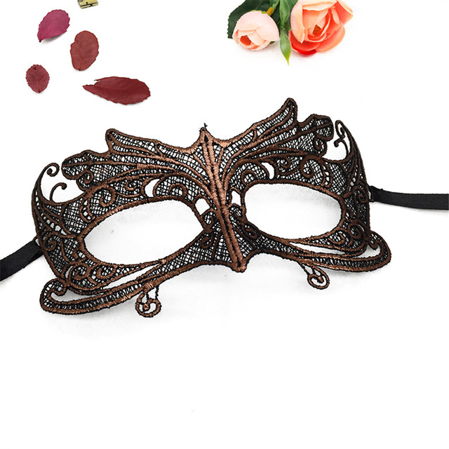 Masquerade Gold Purple Blue Lace Mask Halloween Cutout Prom Party Mask Accessories Sexy Eye Face Mask Venetian Masks Party Favor 1