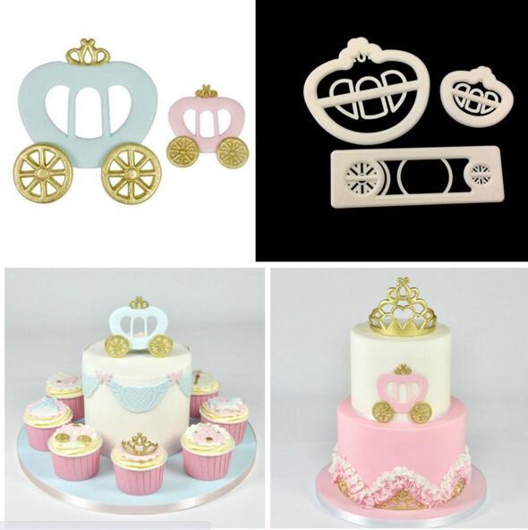 Cake Mold 10 boy girl kid carriage car cutter Plastic Fondant tools