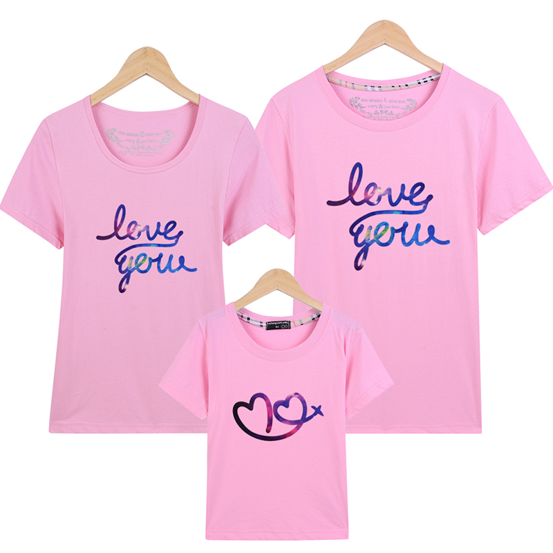 mother son outfits 16 colors summer daughter 5XL plus t shirt family matching clothes mother son outfits mother father baby set