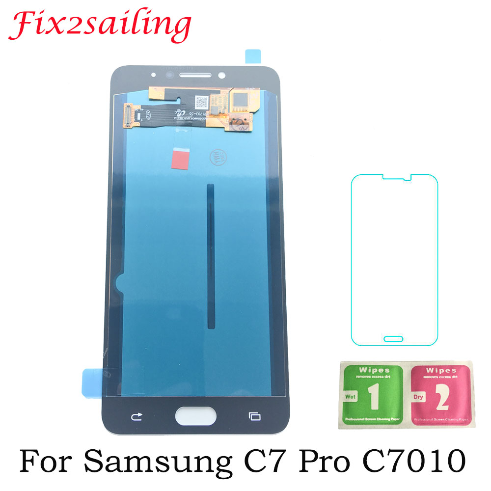 5.7 Super Amoled Screen For Samsung for Galaxy C7 Pro C7010 SM-C7010Z LCD Display with Touch Screen Digitizer panel Assembly5.7 Super Amoled Screen For Samsung for Galaxy C7 Pro C7010 SM-C7010Z LCD Display with Touch Screen Digitizer panel Assembly
