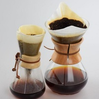 Free Shipping Classic Glass Pot Paper Filters 3Cups 6Cups Filters Coffee Accessories 40Pcs Bag
