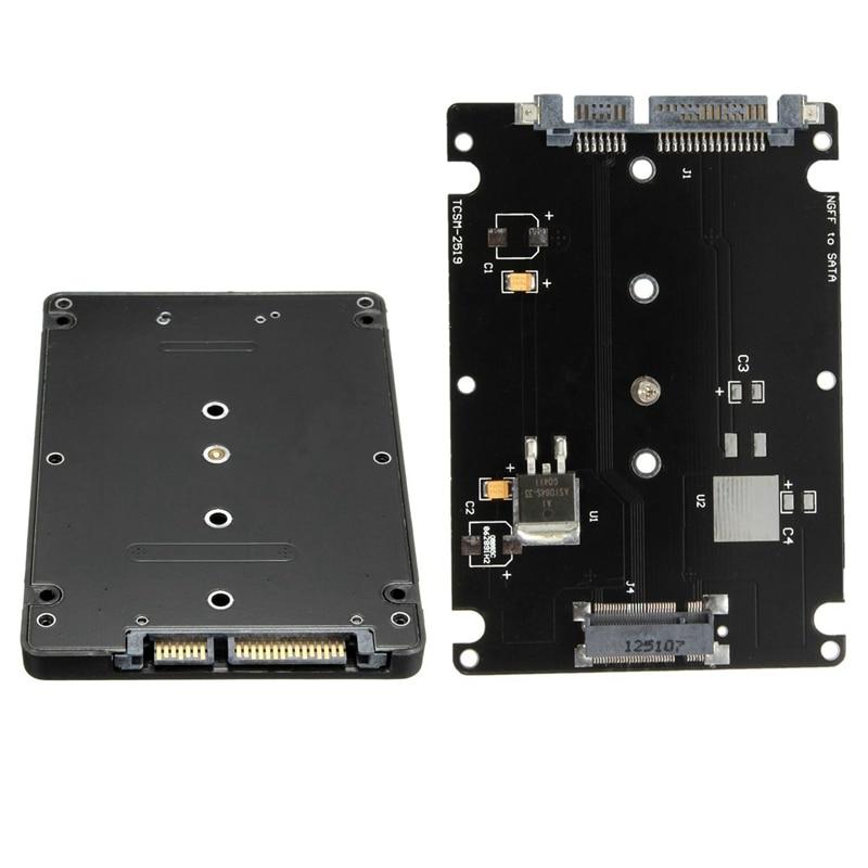 Converter Adapter Case B+M Key Socket 2 M.2 NGFF (SATA) SSD To 2.5 SATA Adapter Card Adapter With Black Case