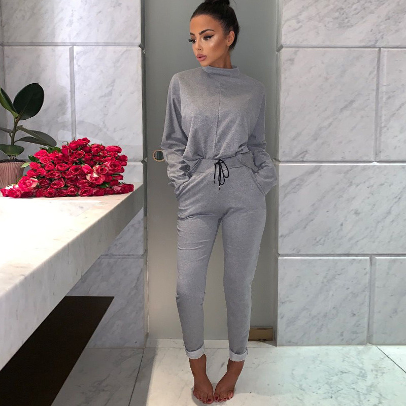 Two Piece Women Sets New Spring Long Sleeve Casual Loose Tops Slim Solid Cargo Pants Fashion Elegant 2 Piece Outfits for Women