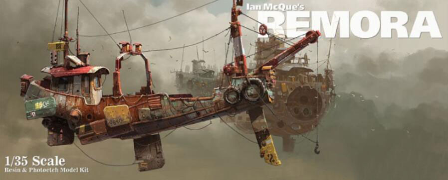 Fantasy 1/35 Scale Ian McQue Suspended Squid Ship Creative Miniatures Modeling Unpainted DIY Static Assembling Resin Model Kits