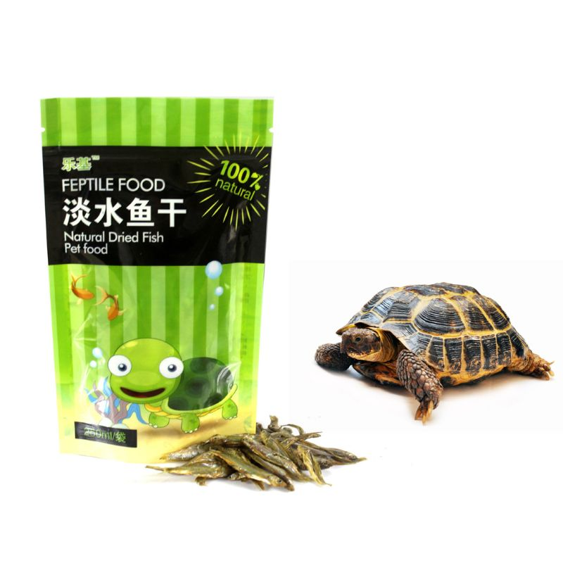 250ml/bag Fish Tank Freshwater Dried Fishes Turtle Feed Water Turtles Brazilian Tortoise Pet Food Calcium Supplement image