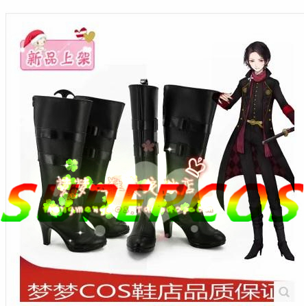 Free shipping! Touken Ranbu Online Kashuu kiyomitsu Cosplay Shoes Boots Professional Handmade!Perfect custom for you!