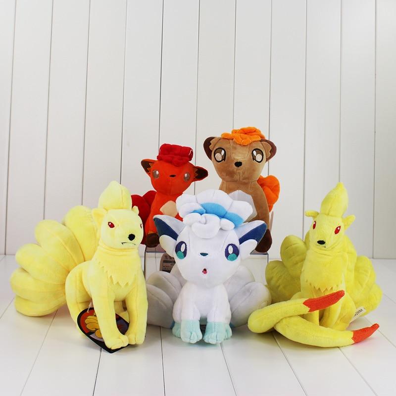 1 개 16 ~ 23cm 애니메이션 Vulpix 플러시 장난감 동물 폭스 Ninetales 플러시 인형 소프트 인형 그레이트 선물