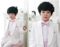White Shawl Collar Kid S Suits Wedding Party Prom Tuxedos Custome Homme Children Clothing Set Jacket