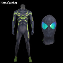 Hero Catcher-4 Top Quality Big Time Spiderman Cosplay Costume Comic 3D Printing Muscle Shade Big Tim