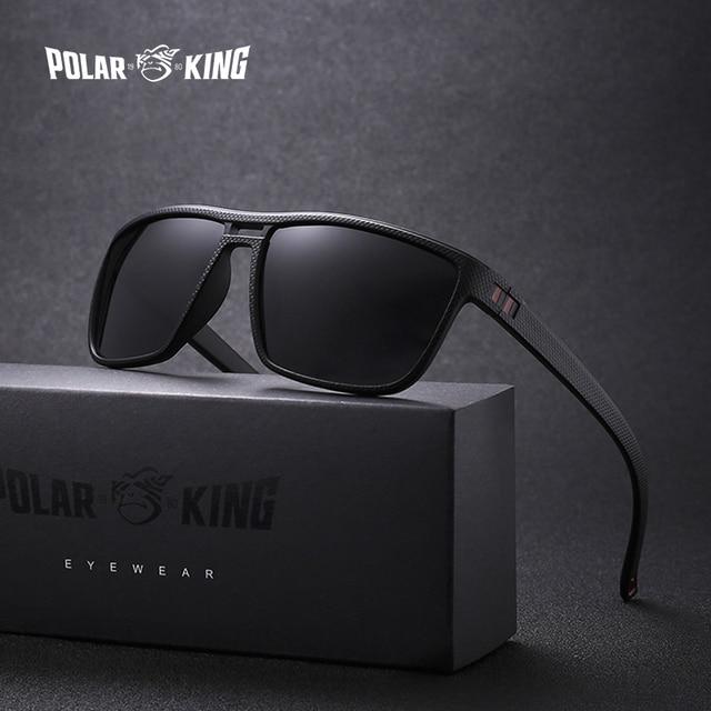 34de27845d495 POLARKING Brand Retro Polarized Sunglasses For Men Plastic Oculos Men s  Fashion Square Plastic Sun Glasses Driving