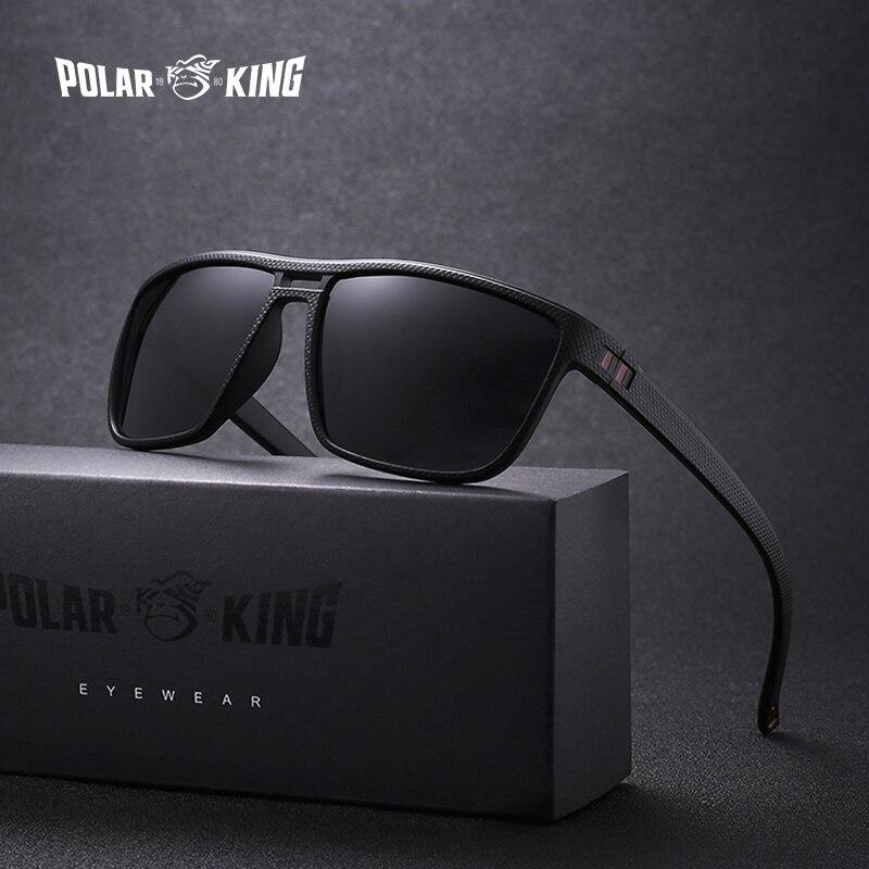 POLARKING Brand Retro Polarized Sunglasses For Men Plastic O
