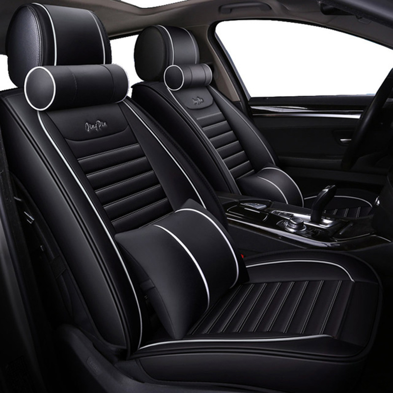 WLMWL Universal Leather Car seat cover Fit Most Car Interior Accessories Sedans Seat Cushion car styling auto Cushion in Automobiles Seat Covers from Automobiles Motorcycles