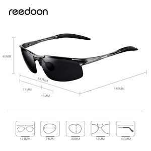Image 5 - Reedoon Photochromic Sunglasses Polarized Lens UV400 Aluminium Magnesium Frame Driving Goggles For Men High Quality