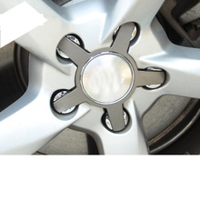 Lsrtw2017 Abs Car Wheel Hup Ring Trims for A4 A6 A3 A5 Q3 Q5 Accessories Sticker