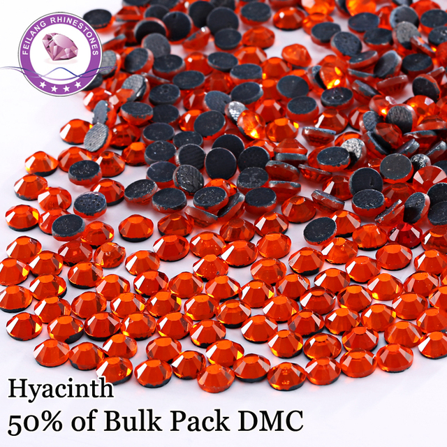 Wholesale Price Five Sizes Color Hyacinth DMC Hotfix Rhinestones For  Clothing Accessories DIY Decoration Iron On Stones 87664674f867