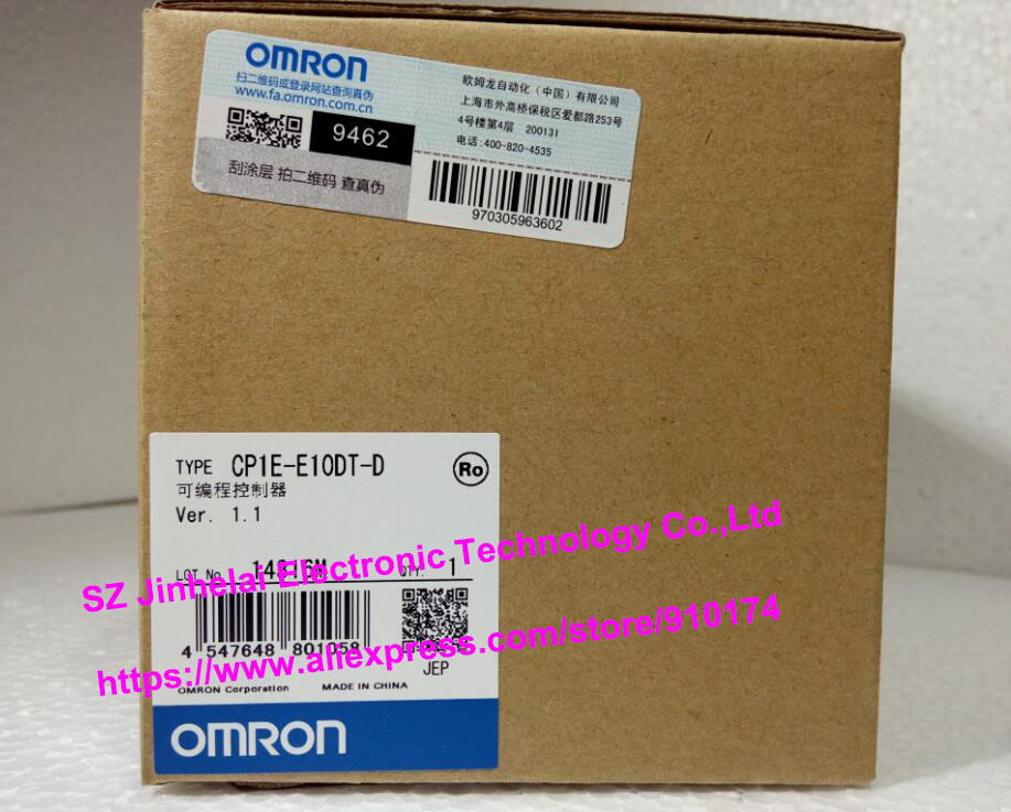 New and original CP1E-E10DT-D  OMRON  Programmable controller new and original e3x da11 s omron optical fiber amplifier photoelectric switch 12 24vdc