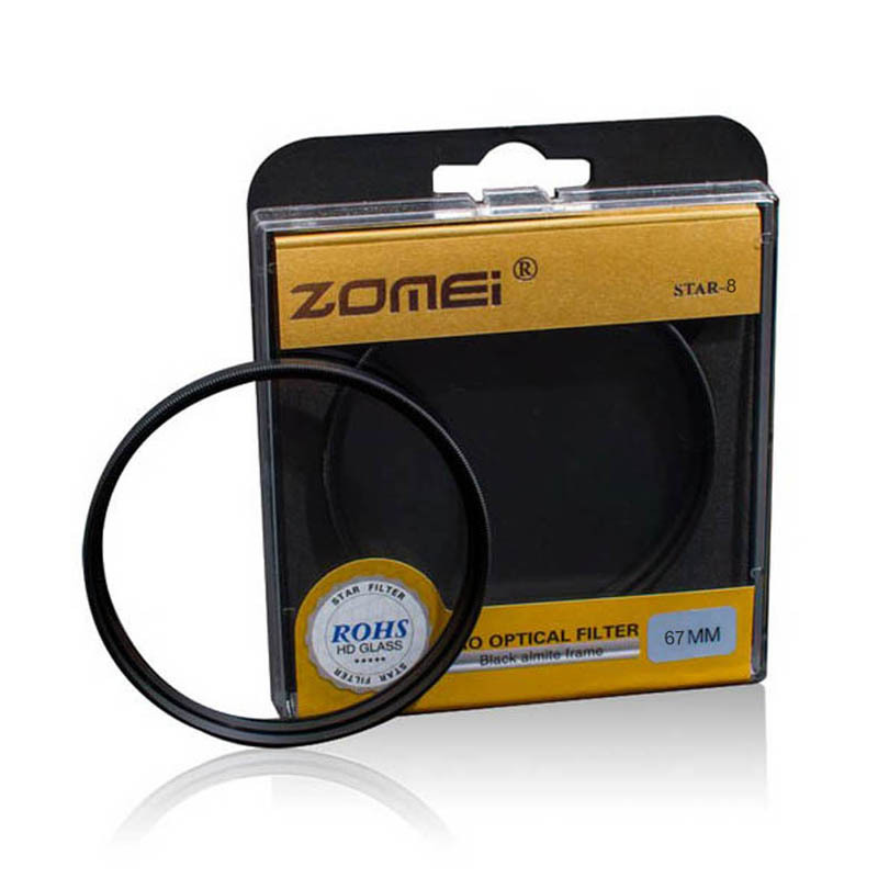Premium Original Zomei 67mm Professional Star Filter 8 Line Point 8PT for Canon Eos Nikon Sony Pentax Olympus DSLR Camera Lens