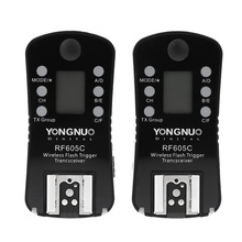 YONGNUO RF605C Wireless Flash Trigger & Shutter Release 16 Channels with LCD display Screen for Canon Cameras with C1 C3 cable