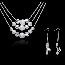Silver Jewelery Assertion Necklaces And Earrings Style African Wedding ceremony Beads Luxurious Costume Jewellery For Sale Perhiasan Set Sps