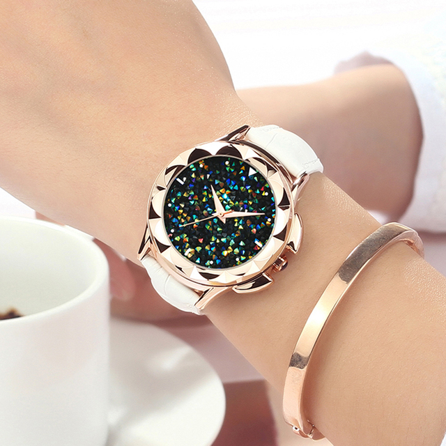 SANDA 2018 Luxury Women Watch Famous Brands Gold Fashion Design Bracelet Watches