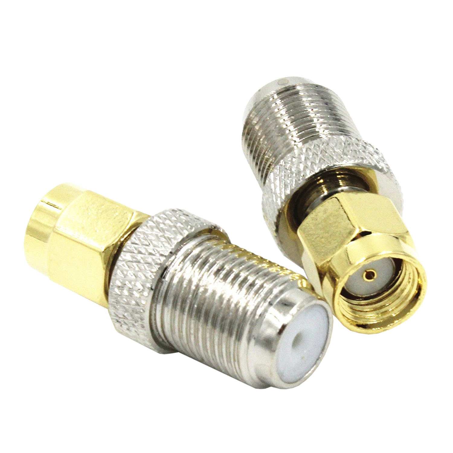RF coaxial coax adapter RP-SMA male to F female