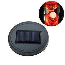 Автомобиль с питанием от солнечных батарей подстаканник с светодиодный свет снизу коврик крышка ночник «Бутылка» подставка под напитки стайлинга автомобилей