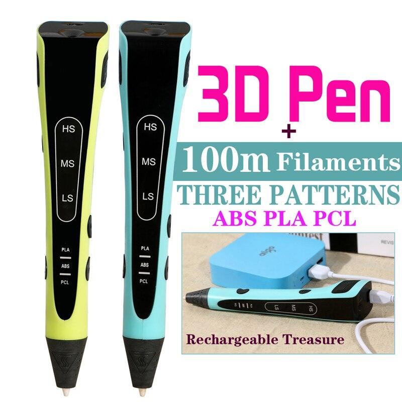 3D pen 100 3D drawing pen Adjustable Temperature 3d pen with Gift Package 3d pencil mistine 3d 3d