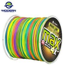1000 M modernas de pesca marca MAX serie Multicolor 1 M 1 color multifilamento trenzada PE pesca línea 4 hebras trenza alambres 8 a 90LB