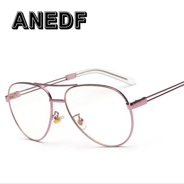 Anedf E Mewah Merek Jelas Lensa Kacamata Wanita Emas Kacamata Bingkai Pria  Kacamata Oval Glasses Frame 23d726b81d