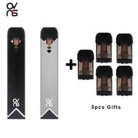 Оригинальный набор Ovns Saber Starter Pod Vape с дополнительными 5 шт 1,8 mah картридж электронной сигареты 400mah батарея мод испаритель