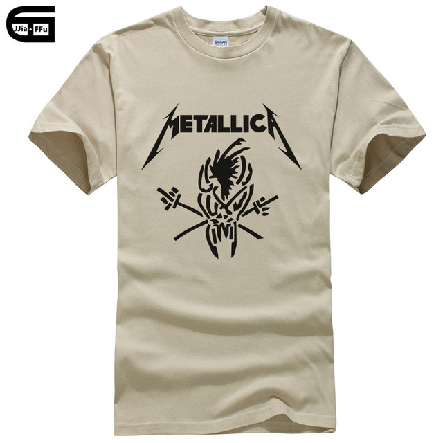 cd90924bb Classic Heavy Metal Metallica T Shirt Men Rock Summer Style Short Sleeve  Cotton Casual Top Tee Camisetas Masculina T-shirt T173