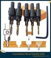 Hot 5 pcs Escareadores Hss Rebaixe Drill Bit Set Madeira Carpintaria Ti Parafuso Tamanho #6 #8 #10 #12 #14