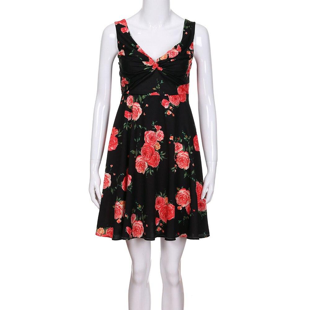 Einfach Heißer Verkauf Kleid Weibliche Mode Mom Mich Dame Floral Print Sleeveless Blume Kleid Familie Outfits Kleidung Vestidos Robe
