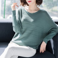 2019 Winter Sweater Women Pullovers Long Sleeve Female Pullovers Kintted Brand Name Women O Neck Batwing Sweater