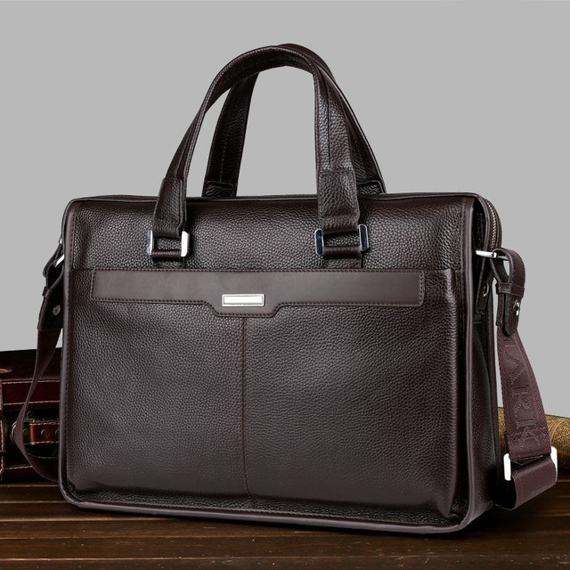 1e7042a6d4aa US $113.44 |MARKSAXTON 100% Guarantee Genuine Leather Bag Perfect Quality  men's leather handbag computer bag Best Gift Business Briefcase-in Totes ...