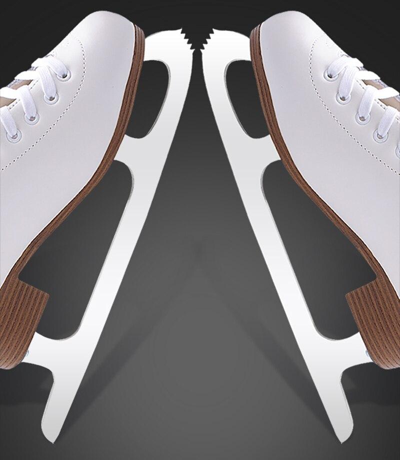 2018 Adulte Thermique Chaud Épaissir Patinage artistique Patins À Glace Chaussures Avec Glace Lame PVC Imperméable Blanc Noir - 2