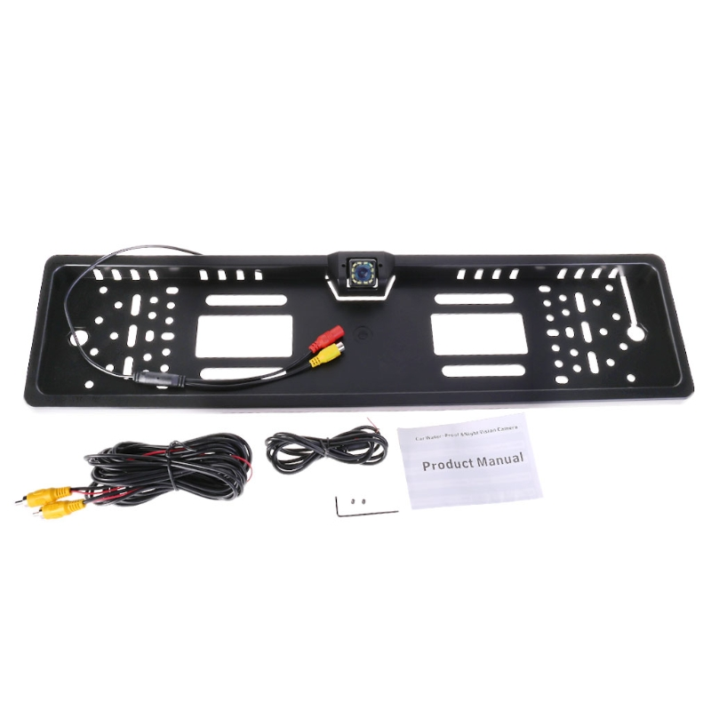 Night Vision 12 LED Car Rear View camera EU License Plate Frame Back Up Camera