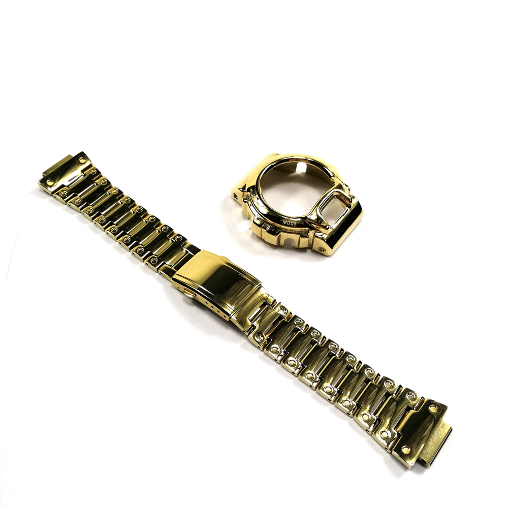 Image 3 - 316 Stainless Steel Watchband and Bezel For DW6900 DW6930 Watch  Band Strap Bracelet Cover For G Style Accessory Original  DesignWatchbands