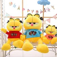 60cm/80cm Height Large Plush Doll Garfield cat Toy Kids Sleeping Back Cushion Cute Stuffed Baby Accompany Xmas Gift Stuffed Toys