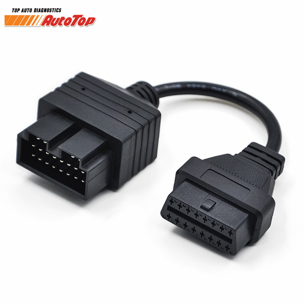 Newest OBD Cable for KIA20 Pin to OBD 2 16Pin OBDII Connector Female Diagnostic Cable Kia Connector Adapter 16 Pin OBD Cable цены онлайн