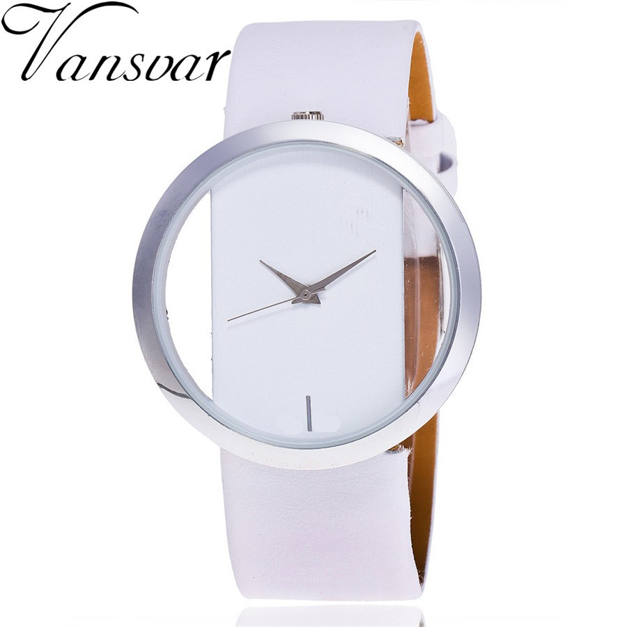 Vansvar Luxury Fashion Casual Quartz Unique Stylish Hollow Skeleton Watches Leather Sport Ladies Wristwatches V44 vansvar brand luxury fashion casual quartz unique stylish hollow skeleton watch leather sport ladies wristwatches drop shipping