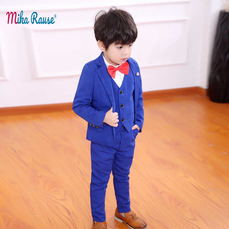 a88742f843af7 Fashion Baby boys suits 3PC children suit boys blazer kids formal clothes  suit teenage campus party