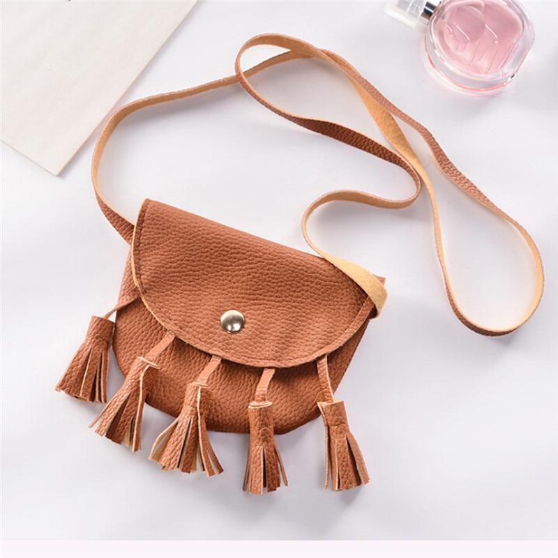 Best Selling Retro New Cute Tassel Bag Girl Velvet Tassel Shoulder Messenger Bag Children Trend Change Messenger Bag