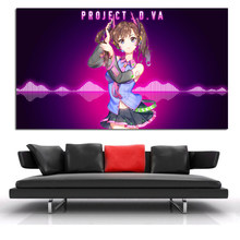 Dva From Overwatches As Hatsune Canvas Posters Print Wall Art Painting Oil Decorative Picture For Modern Home Bedroom Decoration(China)