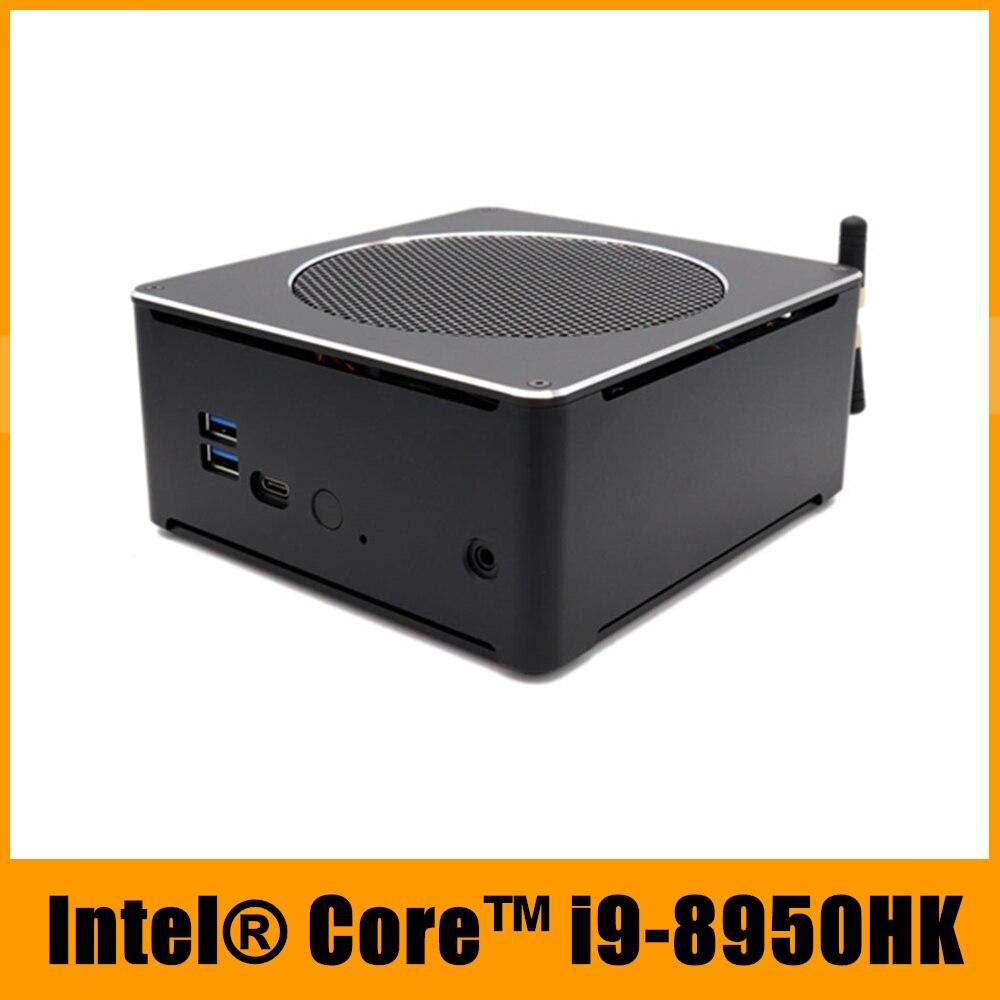 Top Gaming Computer Intel i9 8950HK 6 Cores 12 Threads 12M Cache Mini PC Win10 Pro