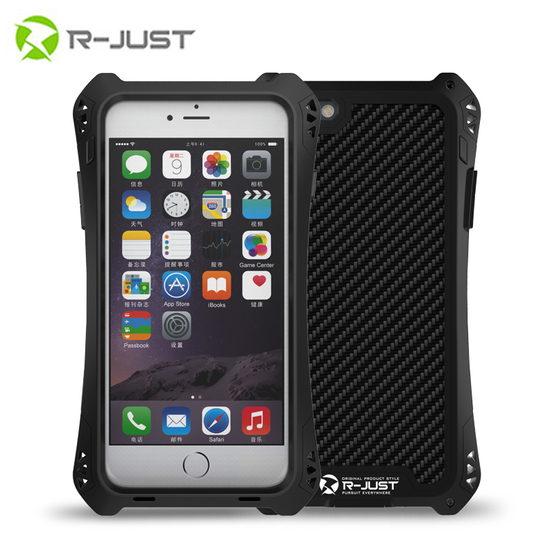 R-JUST AMIRA Tempered Glass Aluminum Carbon Firber Shockproof Waterproof Case Cover for iPhone 5 5S case
