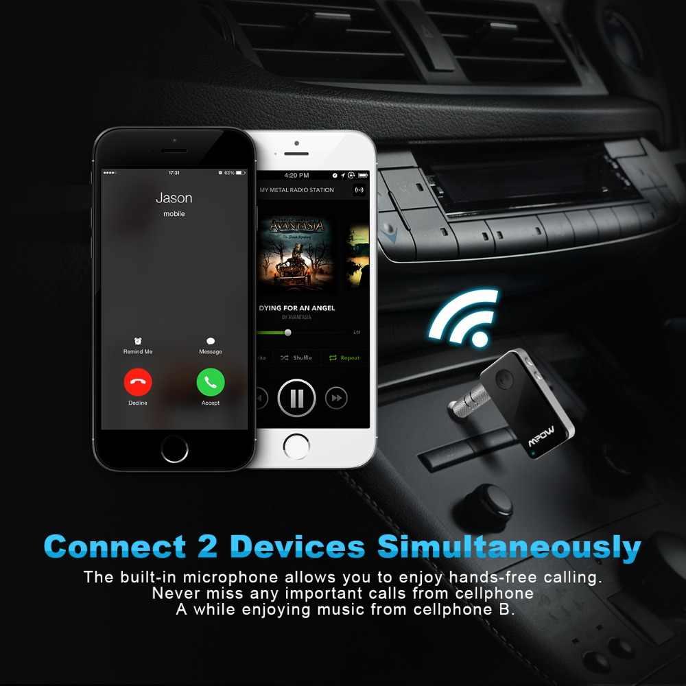 Стерео аудио Bluetooth приемник для Mpow MBR1 беспроводной адаптер мини Bluetooth 4,1 аудио музыкальный приемник для громкой связи вызов автомобиля
