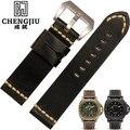 24mm de largura black brown orange substituição dos homens assistir bandas para panerai relógios pulseira pulseira de couro de vaca masculino montre pulseras
